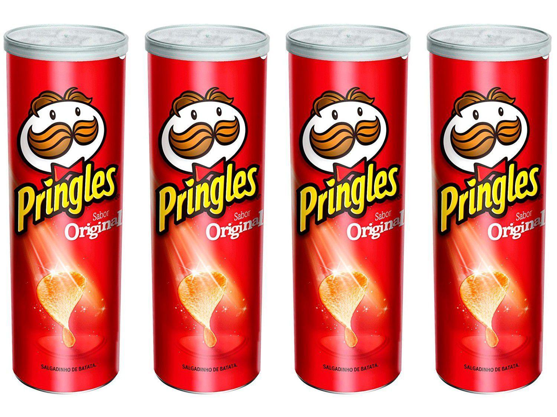 Kit Batata Pringles Original 4 Unidades 114g Cada