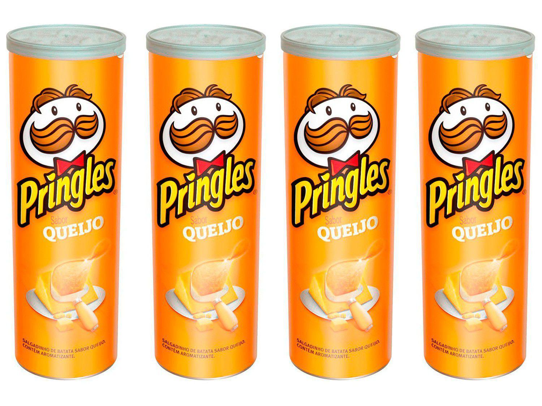 Kit Batata Pringles Queijo 4 Unidades 120g Cada