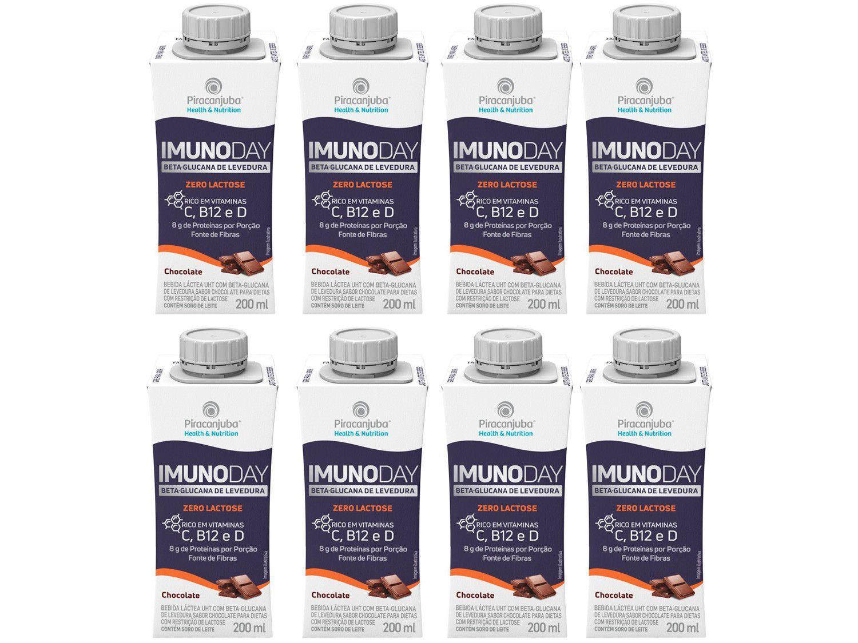 Kit Bebida Láctea Piracanjuba Imunoday - Zero Lactose Original 8 Unidades 200ml Cada