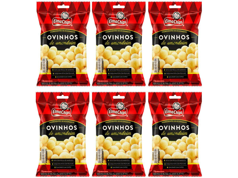 Kit Amendoim Ovinhos Elma Chips 170g - 6 Unidades