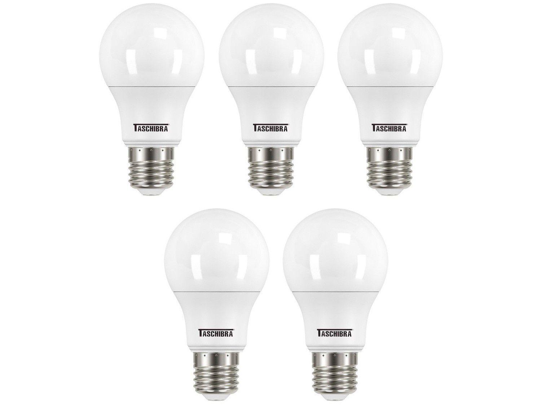 Kit Lâmpada de LED Bulbo Taschibra E27 Branca - 12W 6500K TKL 80 5 Unidades