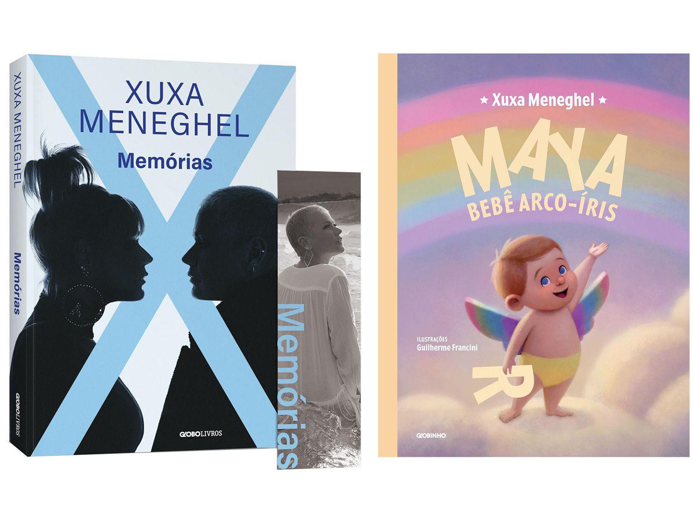 Kit Livros Memórias + Maya Bebê Arco-Íris - Xuxa Meneghel