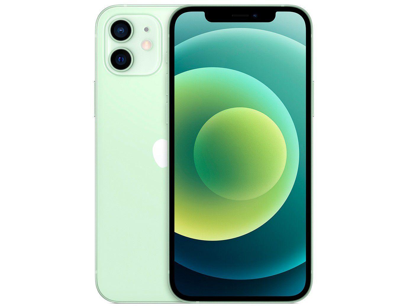 "iPhone 12 Apple 256GB Verde Tela 6,1"" - Câm. Dupla 12MP iOS + AirPods"