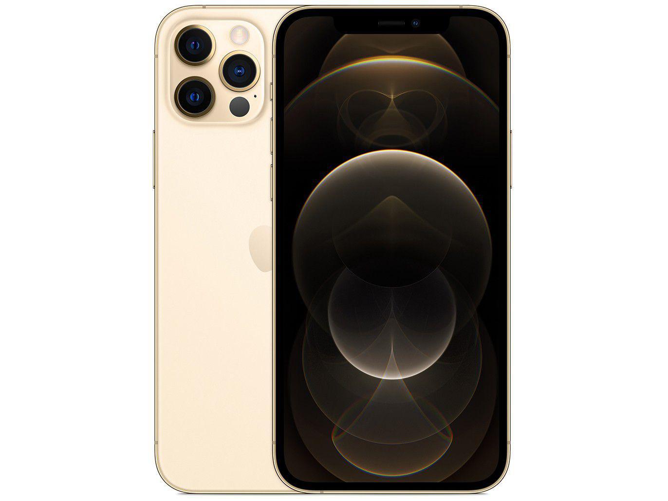 "iPhone 12 Pro Apple 512GB Dourado 6,1"" - Câm. Tripla 12MP iOS + AirPods"