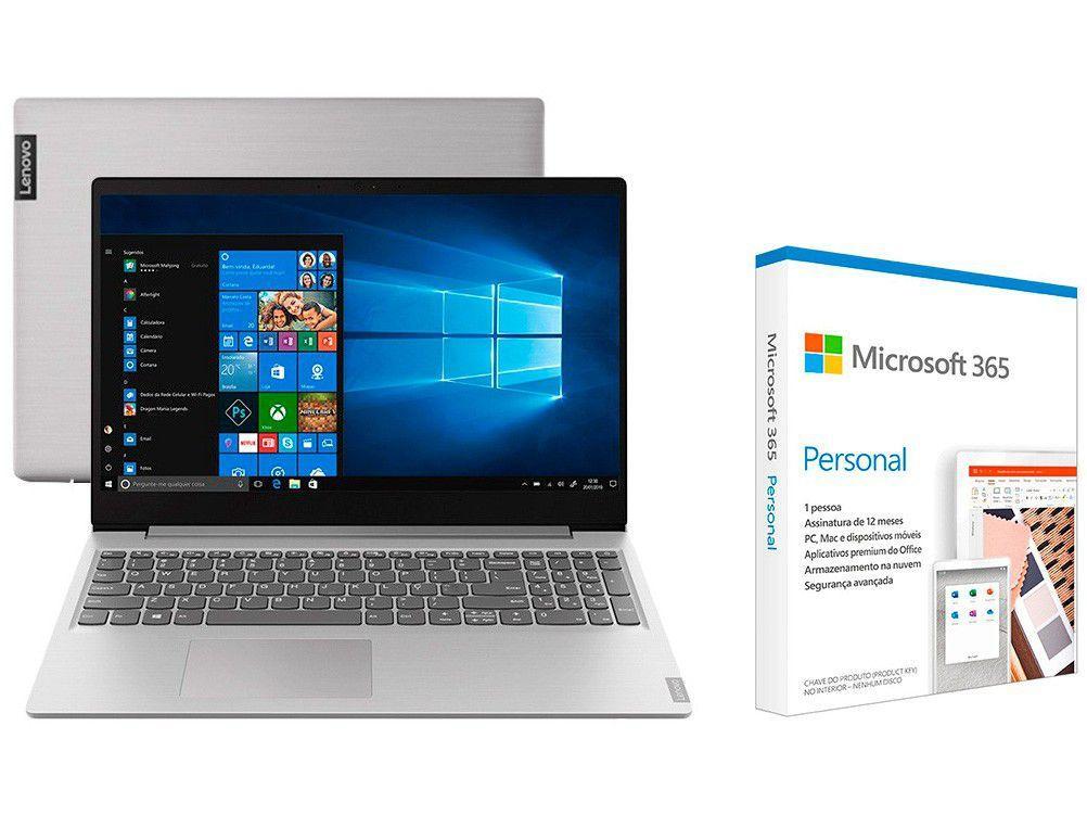 Notebook Lenovo Ideapad S145 81V70008BR - AMD Ryzen + Microsoft 365 Personal 1TB OneDrive