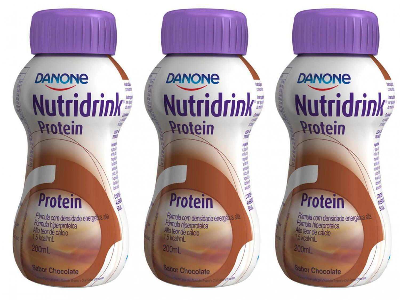 Kit Suplemento Alimentar Adulto Nutridrink Protein - Chocolate 200ml 3 Unidades