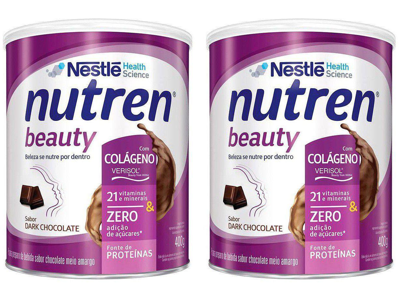 Kit Complemento Alimentar Adulto Nutren Dark Choco - Beauty 400g 2 Unidades