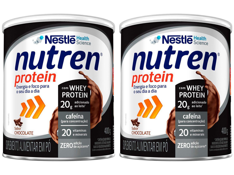 Kit Suplemento Alimentar Adulto Nutren Chocolate - Protein Zero 400g 2 Unidades