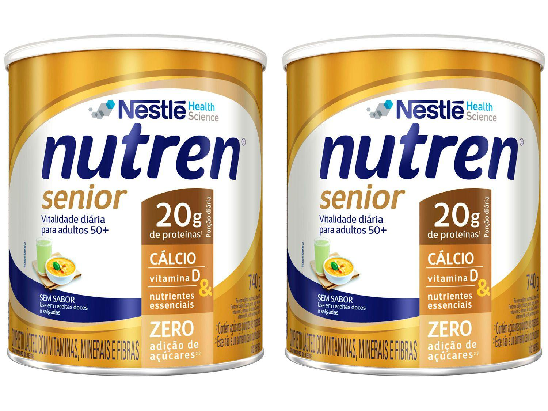Kit Composto Lácteo Nutren Senior Sem Sabor - Integral 740g 2 Unidades