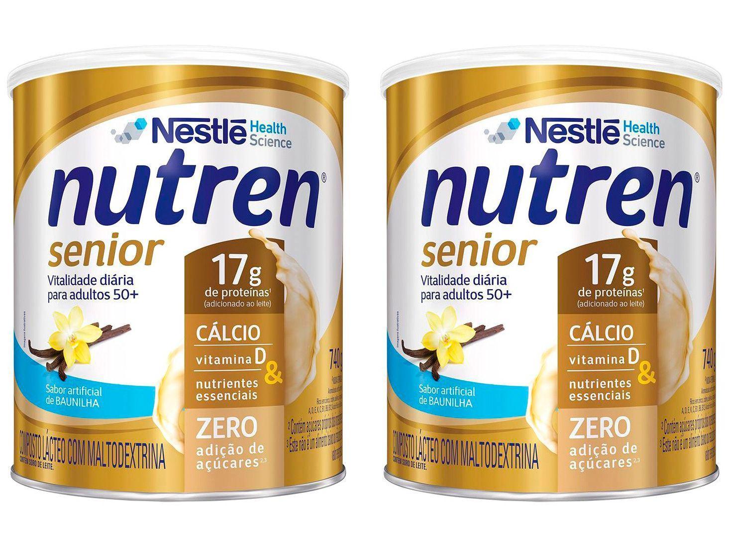 Kit Composto Lácteo Nutren Senior Baunilha - Integral 740g 2 Unidades