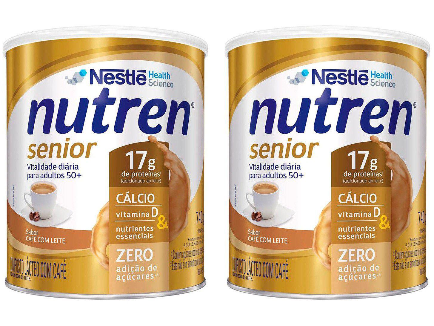 Kit Composto Lácteo Café com Leite Nutren Senior - Integral 740g 2 Unidades