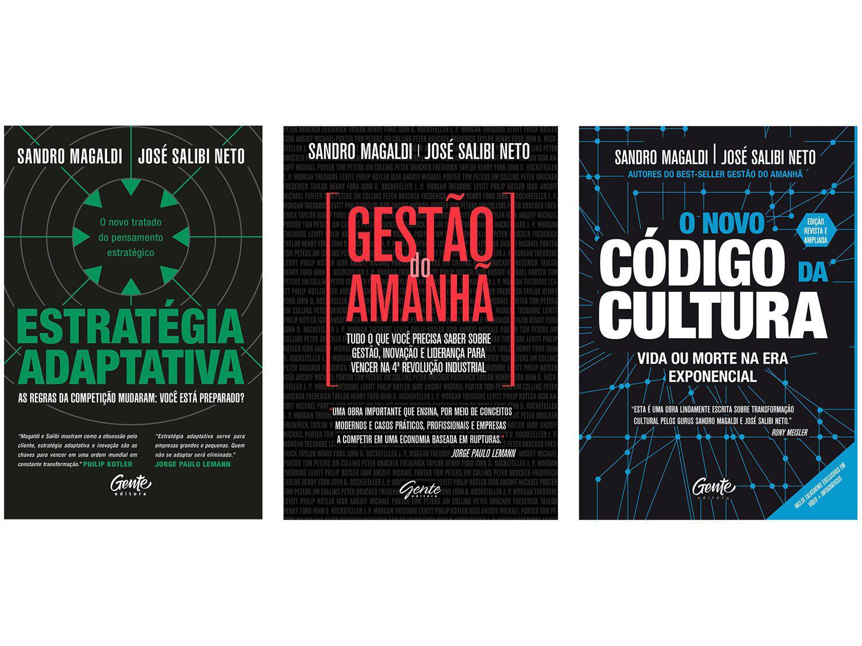 Kit Livros Estratégia Adaptativa Gestão do Amanhã - O Novo Código da Cultura Sandro Magaldi