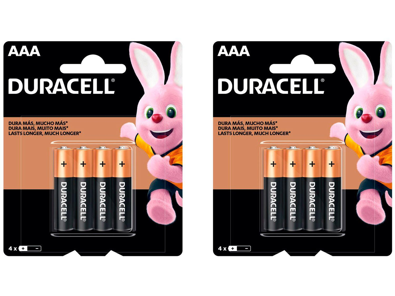 Kit com 8 Unidades de Pilha Alcalina AAA Duracell