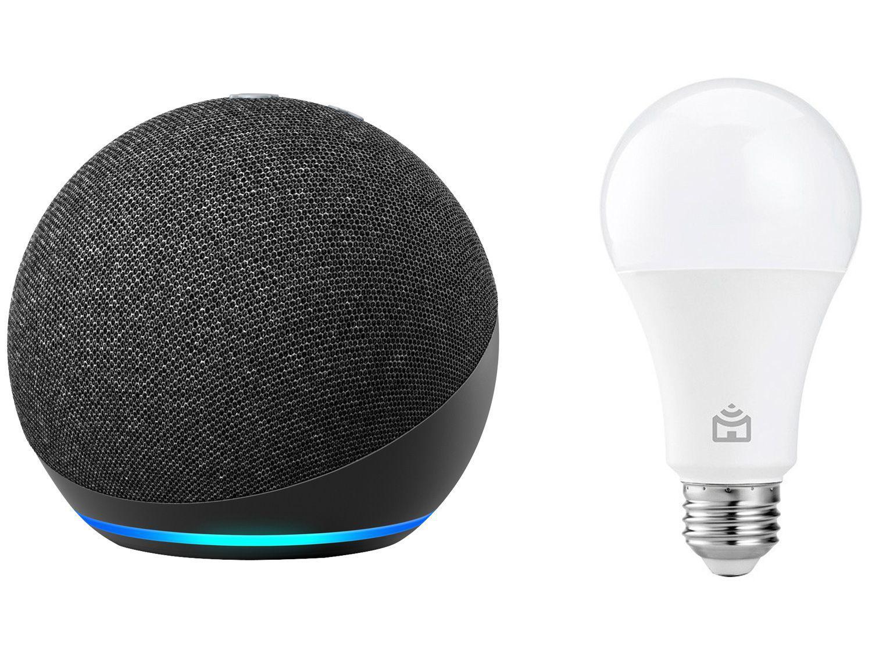 Echo Dot 4ª Geração Smart Speaker com Alexa - Amazon + Lâmpada Inteligente Positivo Home Smart