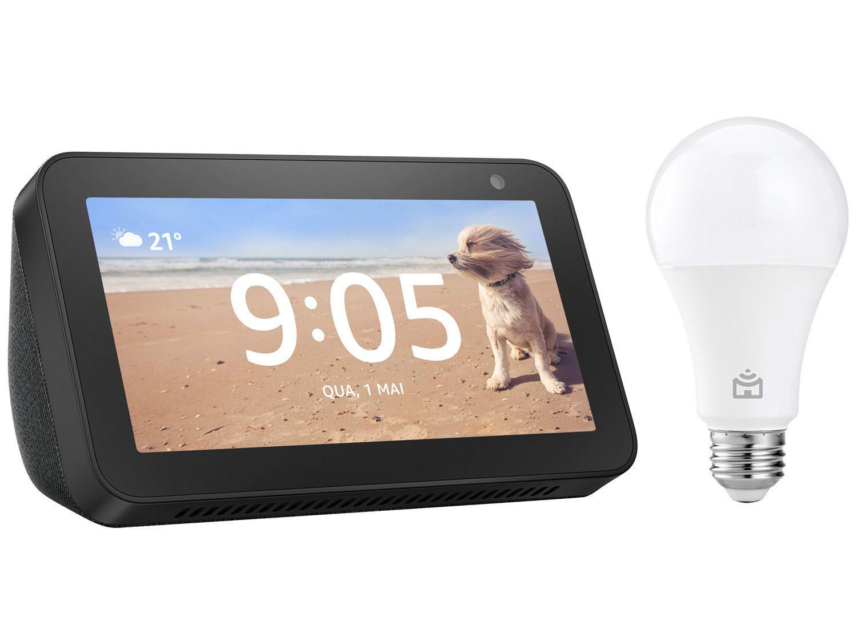 Echo Show 5 3ª Geração Smart Speaker com Alexa - Amazon + Lâmpada Inteligente Positivo Home Smart
