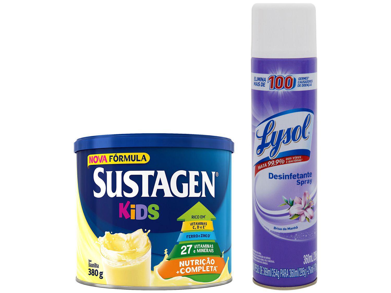 Kit Complemento Alimentar Infantil Sustagen Kids - Baunilha 380g + Desinfetante Lysol Brisa 360ml