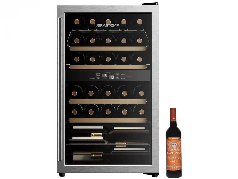 Adega Climatizada Brastemp 33 Garrafas - BZB33 BE + Vinho Tinto Seco Casal Garcia 750ml