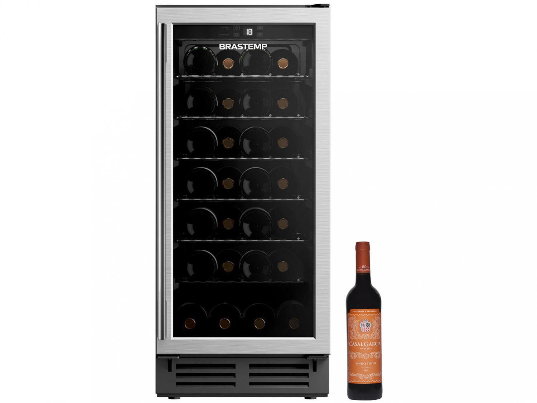 Adega Climatizada Brastemp 28 Garrafas - BZB28 AE + Vinho Tinto Seco Casal Garcia 750ml