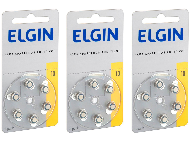 Kit Bateria para Aparelho Auditivo 10/230 PR70 - Elgin 18 Unidades