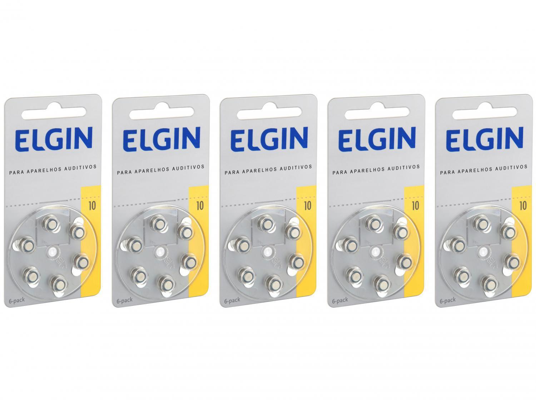 Kit Bateria para Aparelho Auditivo 10/230 PR70 - Elgin 30 Unidades