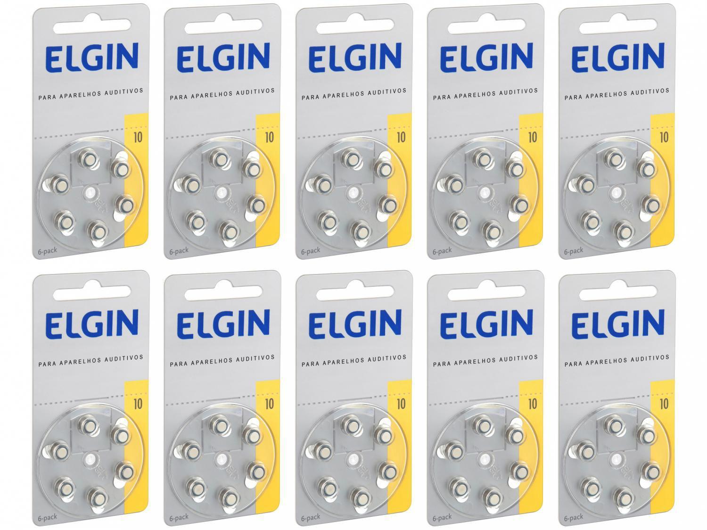 Kit Bateria para Aparelho Auditivo 10/230 PR70 - Elgin 60 Unidades