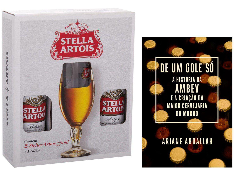 Kit Livro De um Gole Só A história da Ambev - Criação da Maior Cervejaria + Stella Artois
