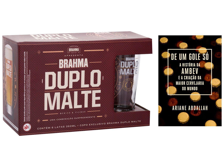 Kit Livro De um Gole Só A história da Ambev - Criação da Maior Cervejaria + Kit Brahma