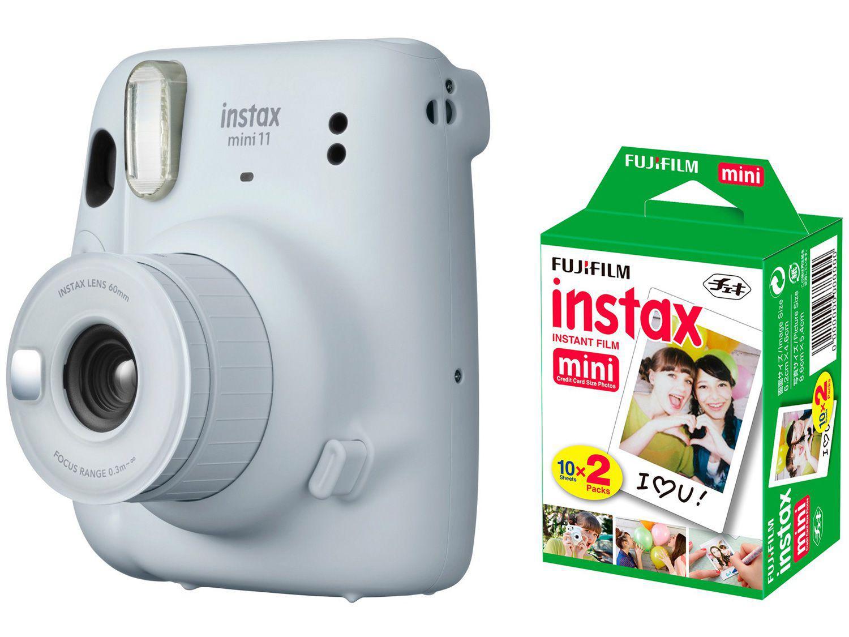 Instax Mini 11 Fujifilm Branco Flash - Automático + Filme Instantâneo Fujifilm 20 Poses