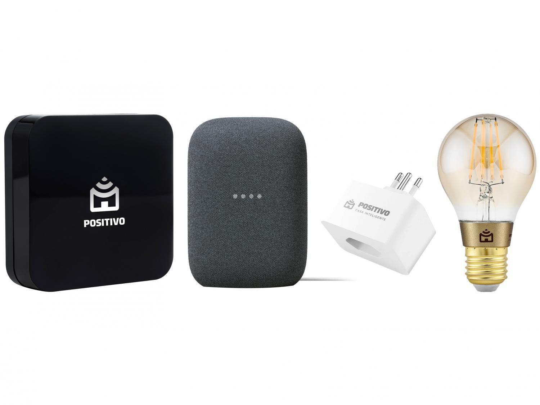 Nest Audio Smart Speaker + Lâmpada Smart - Wi-Fi + Adaptador de Tomada + Controle Inteligente