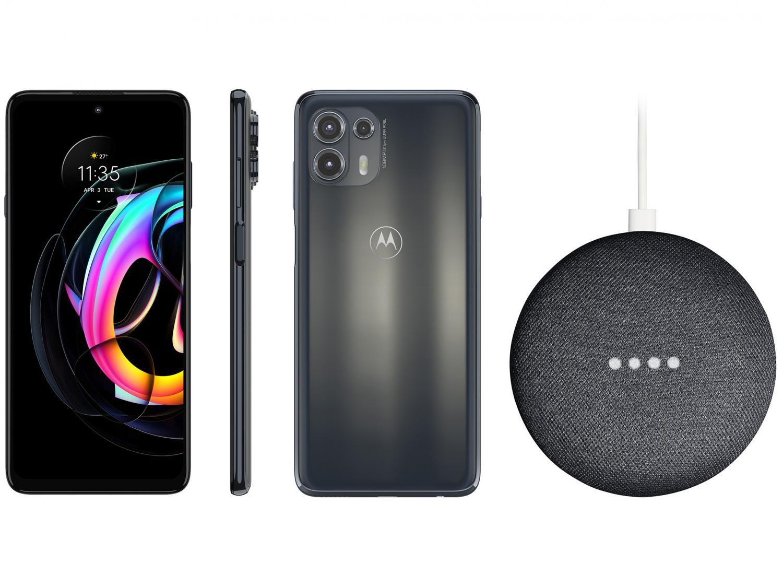 Smartphone Motorola Edge 20 Lite 128GB Grafite - 5G 6GB RAM + Nest Mini 2ª geração Smart Speaker