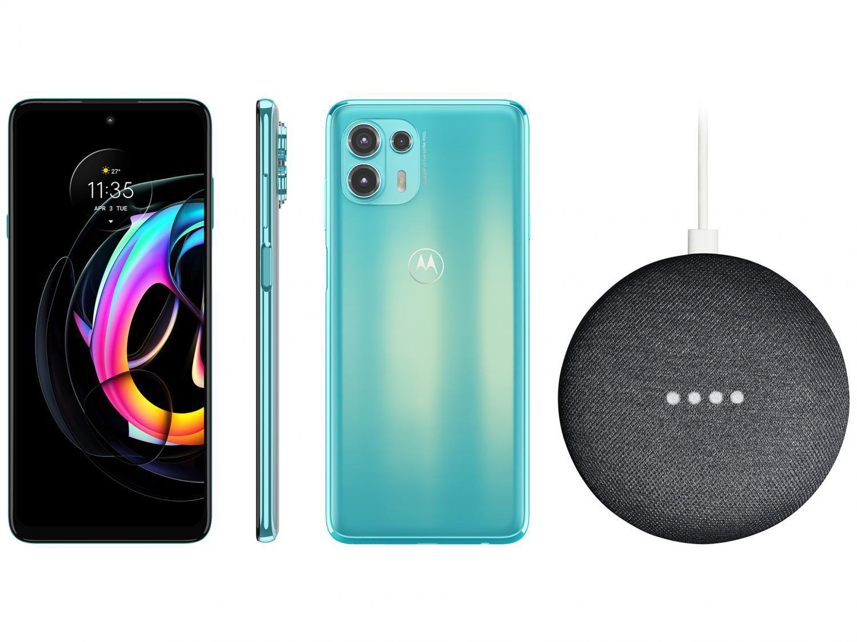 Smartphone Motorola Edge 20 Lite 128GB Verde - 5G 6GB RAM + Nest Mini 2ª geração Smart Speaker