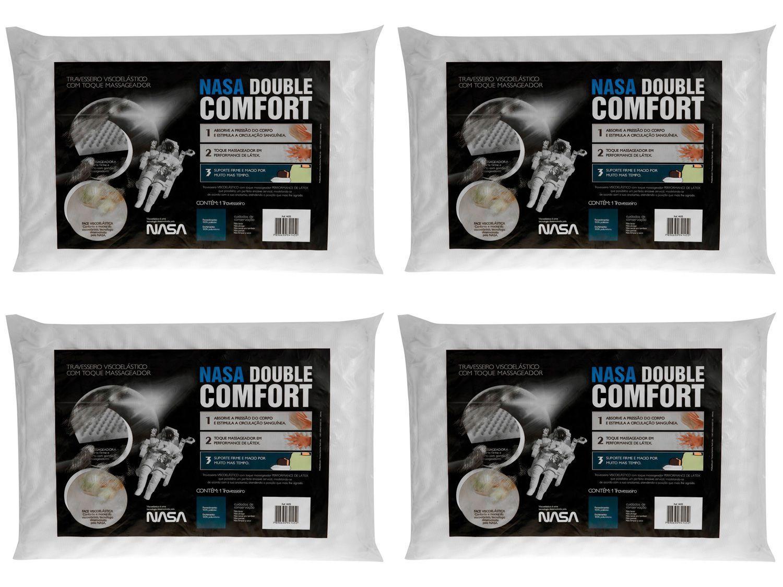 Kit Travesseiro Nasa Fibrasca Viscoelástico - NASA Double Comfort 4 Unidades