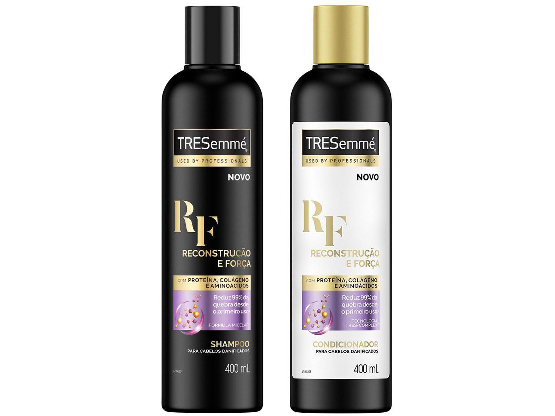 Shampoo e Condicionador TRESemmé Reconstrução e - Força Cabelos Mais Fortes e Resistentes 400ml Cada