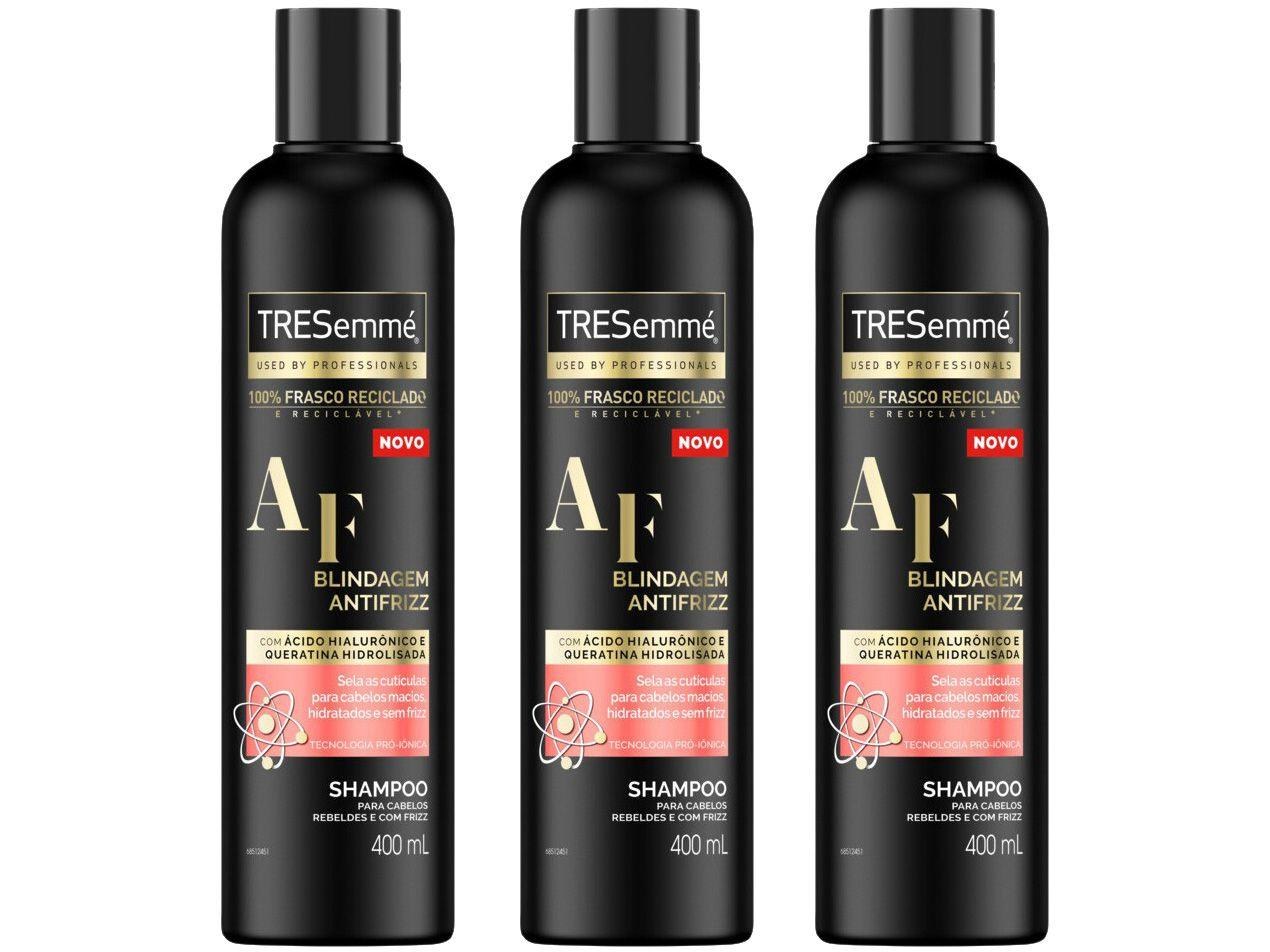 Kit Shampoo TRESemmé Blindagem Antifrizz - 3 Unidades 400ml Cada