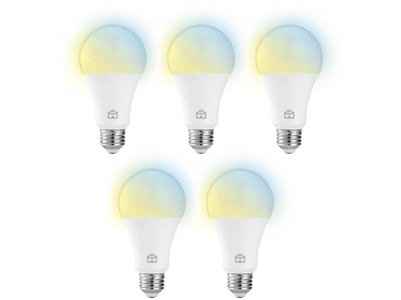 Kit Lâmpadas Inteligentes LED 5 Unidades E27 9W - Positivo Home Smart