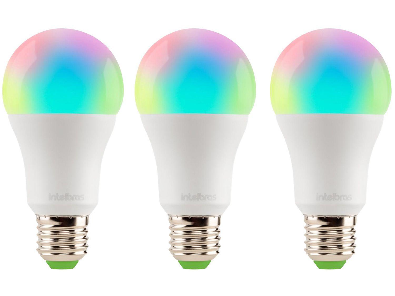 Kit Lâmpadas Inteligentes Smart LED 3 Unidades RGB - E27 10W 2700K-6500K Intelbras Izy EWS 410