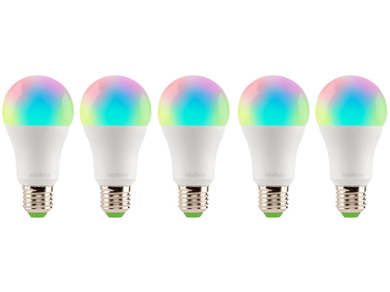 Kit Lâmpadas Inteligentes Smart LED 5 Unidades RGB - E27 10W 2700K-6500K Intelbras Izy EWS 410