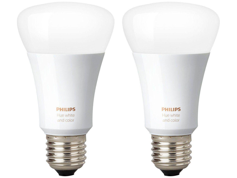 Kit 2 Lâmpadas Inteligente Philips Hue E27 127V
