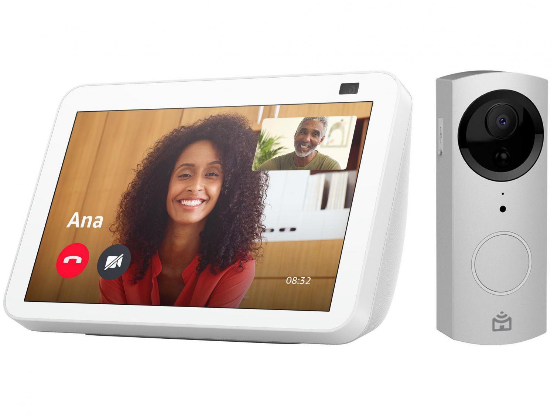 """Echo Show 8 2ª Geração Smart Speaker 8"""" - com Alexa + Vídeo Porteiro Wi-Fi Positivo"""
