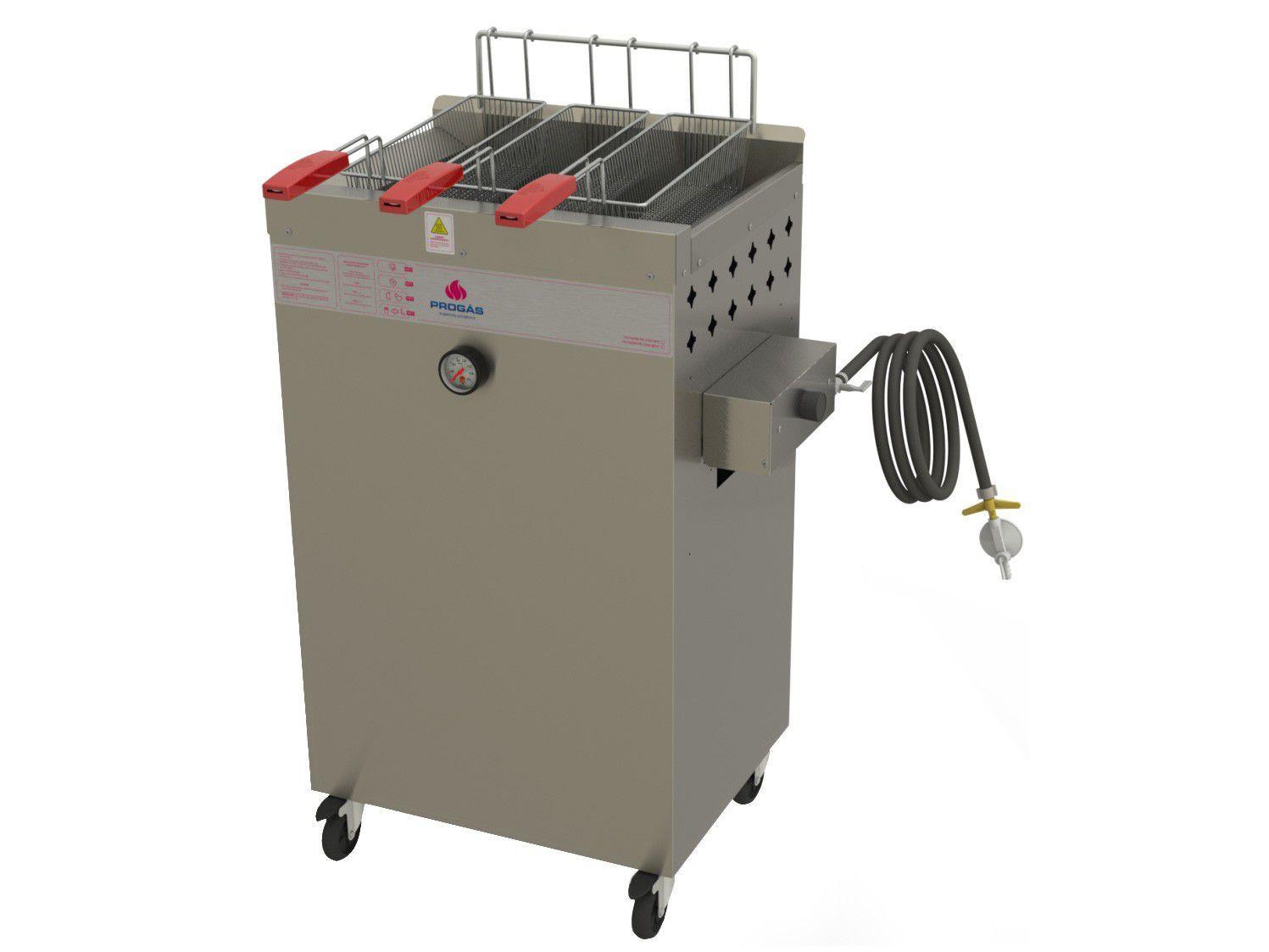Fritadeira Industrial a Gás Progás - Fry Fritter Style PR-2000BPG 20L 1 Cuba 3 Cestos