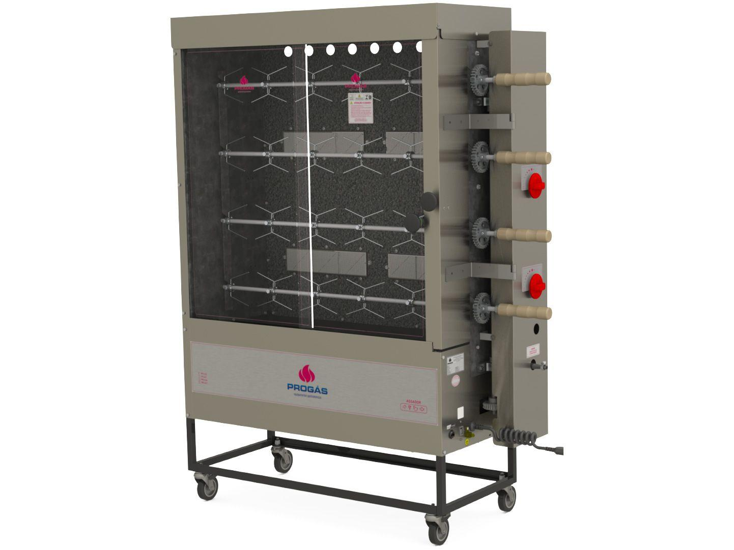 Forno Industrial a Gás GLP Progás Rotativo 40kg - PR-621