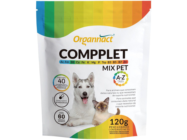 Suplemento Organnact Compplet Mix Pet A-Z - para Cachorro e Gato 120g