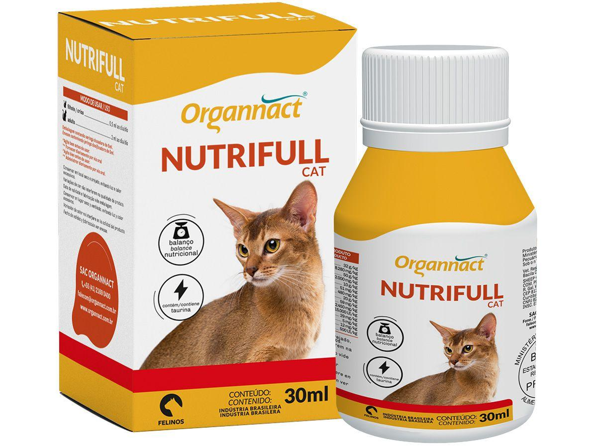 Suplemento Organnact Nutrifull Cat - para Gato 30ml