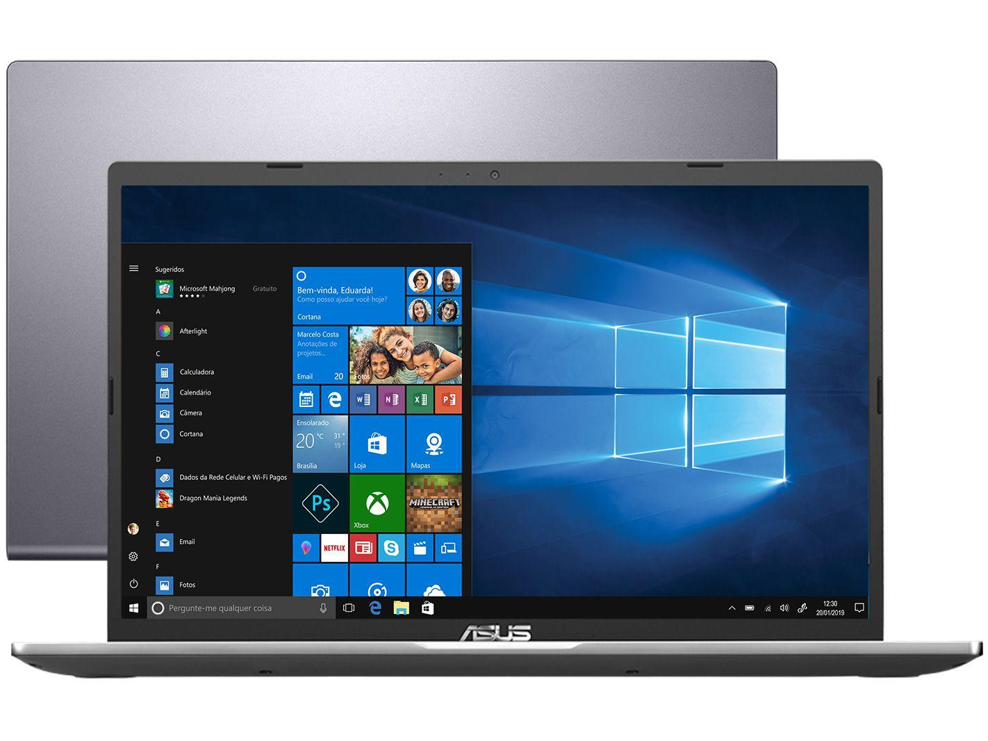 "Notebook Asus X515JF-EJ153T Intel Core i5 8GB 256G - SSD 15,6"" Full HD Placa de Vídeo 2GB Windows"