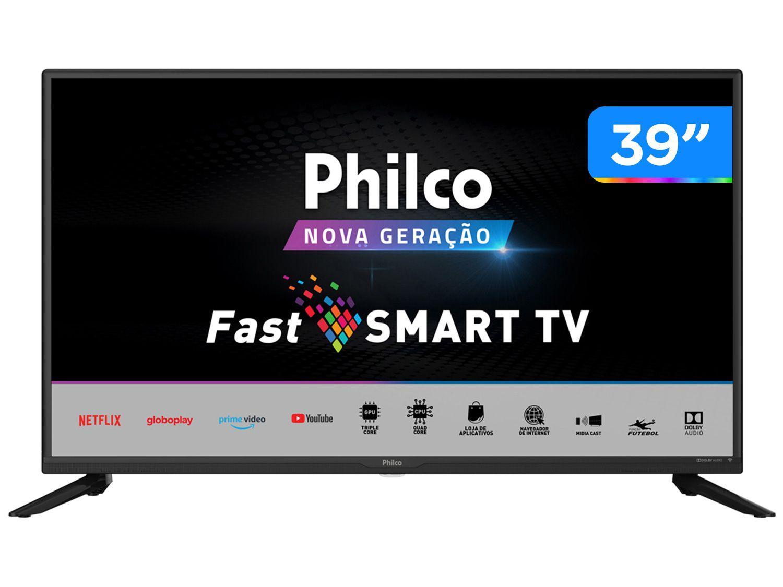 "Smart TV 39"" HD D-LED Philco PTV39G65N5CH - VA 60Hz Wi-Fi 2 HDMI 1 USB"