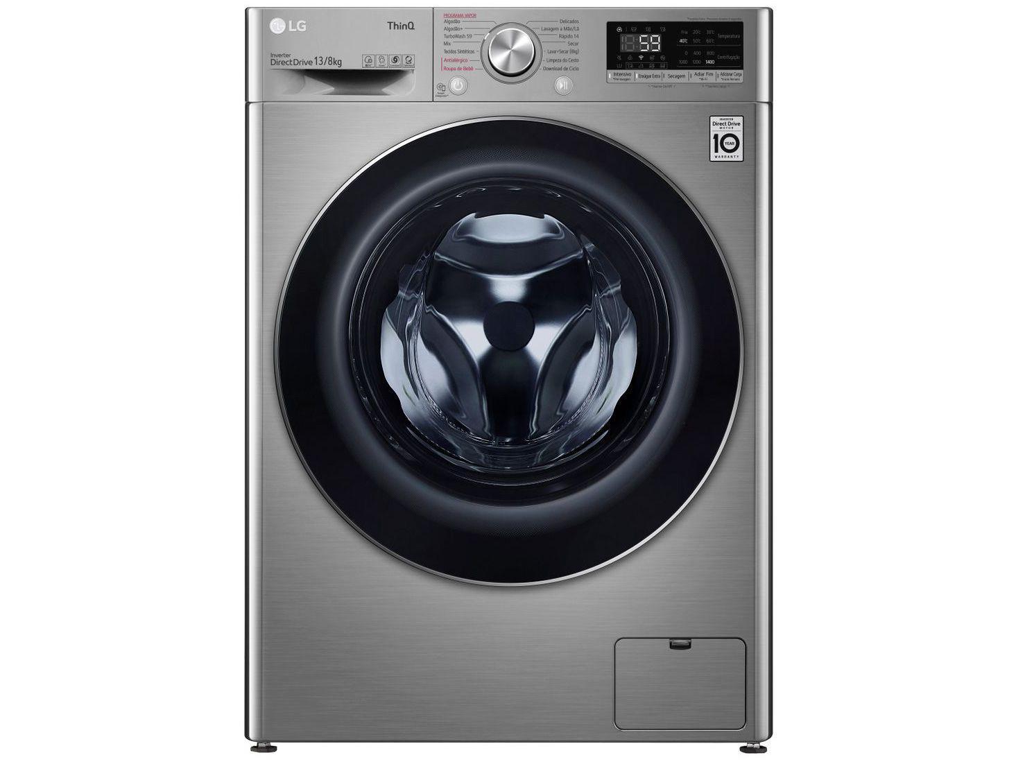 Lava e Seca LG 13Kg CV5013EC4 Inverter Smart Wi-Fi - Água Quente e Fria 14 Programas de Lavagem