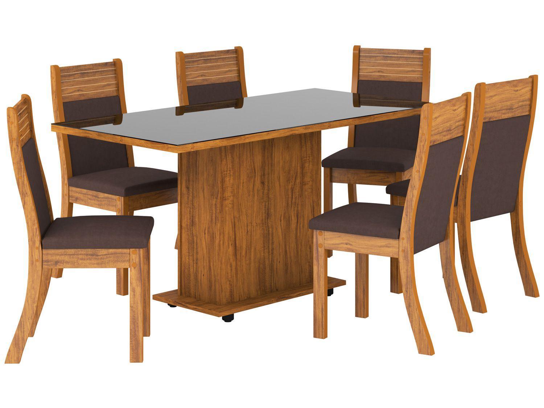 Mesa de Jantar 6 Cadeiras Retangular - Alhandra Roma Viero Móveis