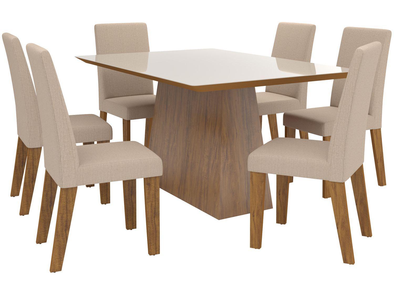 Mesa de Jantar 6 Cadeiras Retangular - Viero Móveis Itajaí Vênus