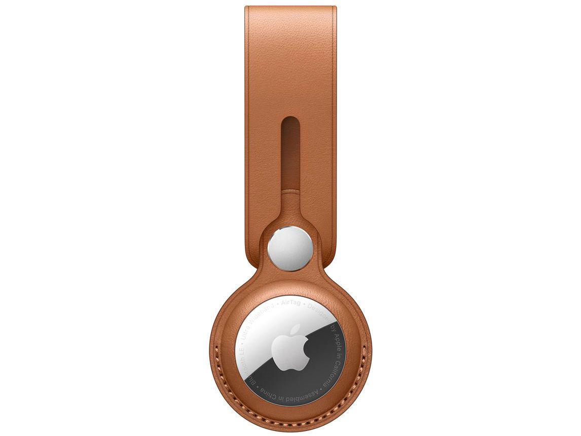 Laço de couro para Apple AirTag - Castanho