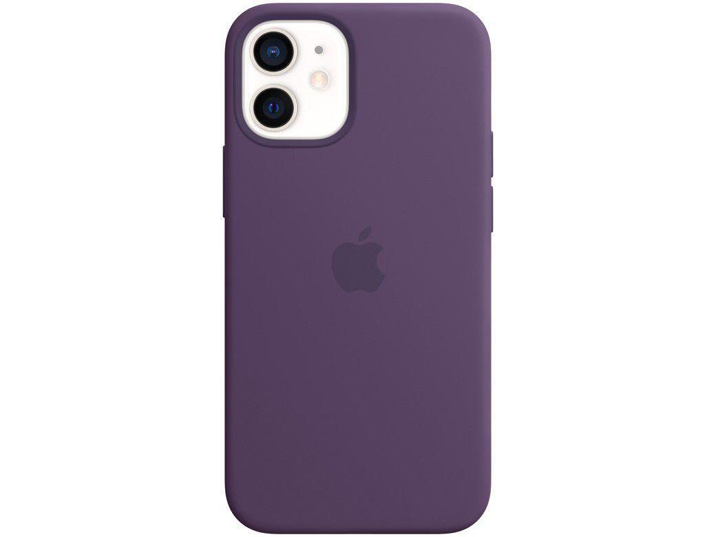 Capa Silicone com MagSafe Ametista - para iPhone 12 Mini Original